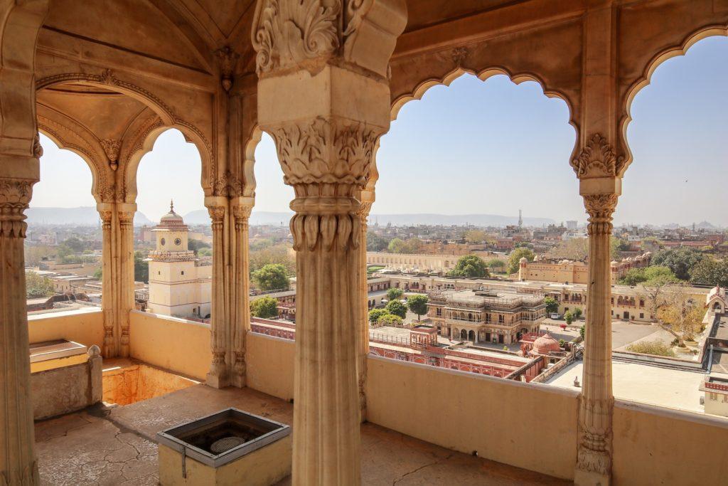 Vue sur Jaipur, la ville rose, Rajasthan
